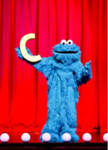 Cookie Monster with Letter C