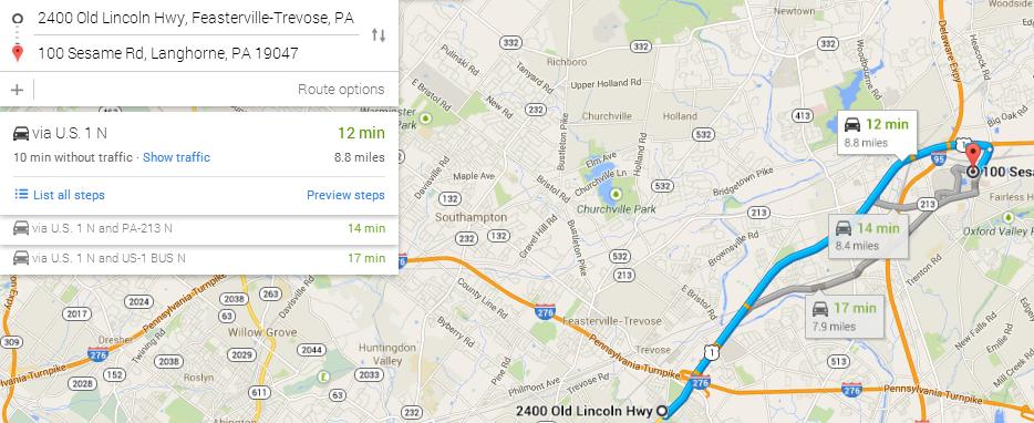 Sesame Place Map